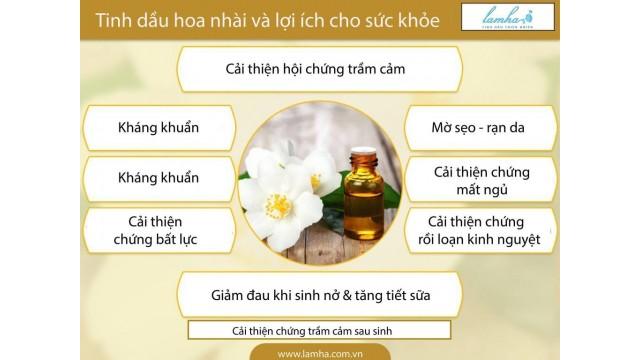 Tinh dầu hoa nhài và sức khỏe.