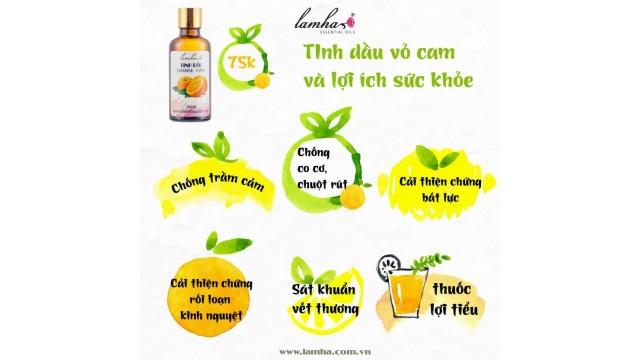 Tinh dầu vỏ cam và sức khỏe