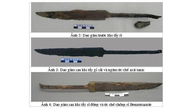 Kỹ thuật bảo quản hiện vật kim loại đa chất liệu sắt - đồng: trường hợp bảo quản chiếc dao găm khai quật tại 62-64 Trần Phú, Hà Nội