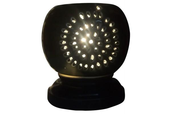 Đèn xông tinh dầu cắt đen