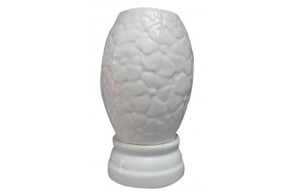 Đèn xông tinh dầu vạn hoa trắng cỡ trung