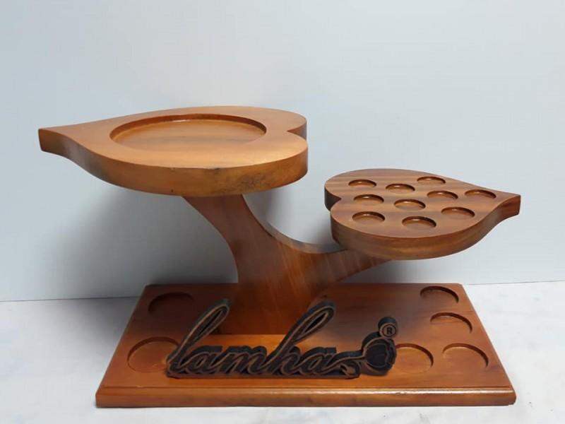 Kệ gỗ đựng lọ tinh dầu 2 lá