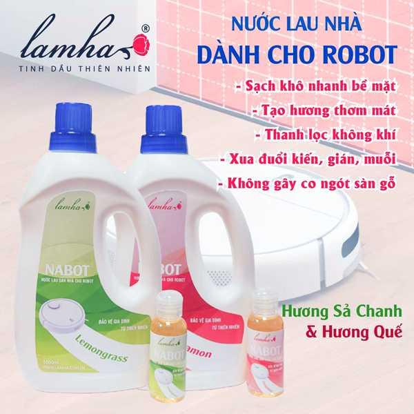 Nước Lau Sàn Nabot Dùng Cho Robot Hút Bụi Lau Nhà