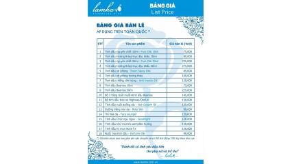 Bảng giá bán lẻ Lam Hà