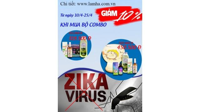 Khuyến mại giảm giá 2 bộ sản phẩm tinh dầu vệ sinh và phòng chống muỗi