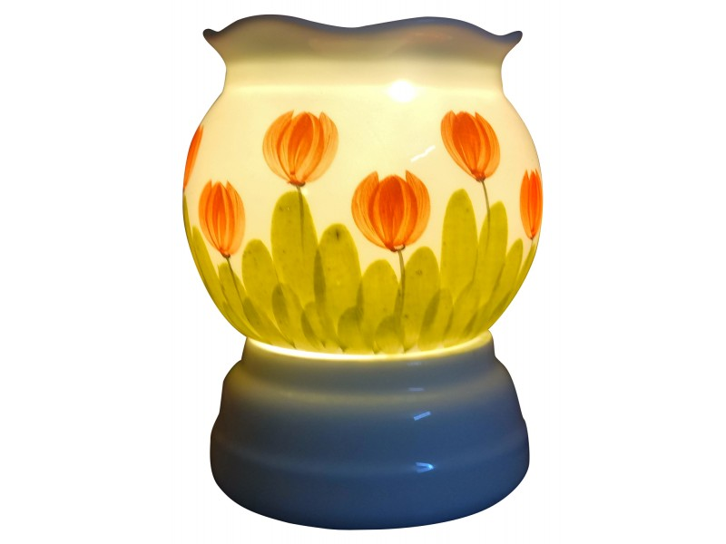 Đèn xông tinh dầu hình hoa Tulip miệng lượn