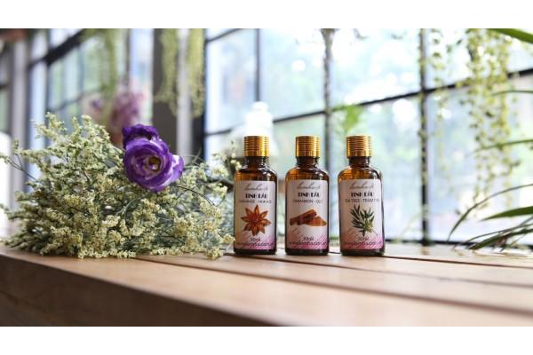 Bộ tinh dầu dùng trong văn hóa tín ngưỡng quế, hồi, trầm hương