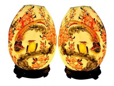 Cặp đèn xông tinh dầu chim trĩ cỡ lớn