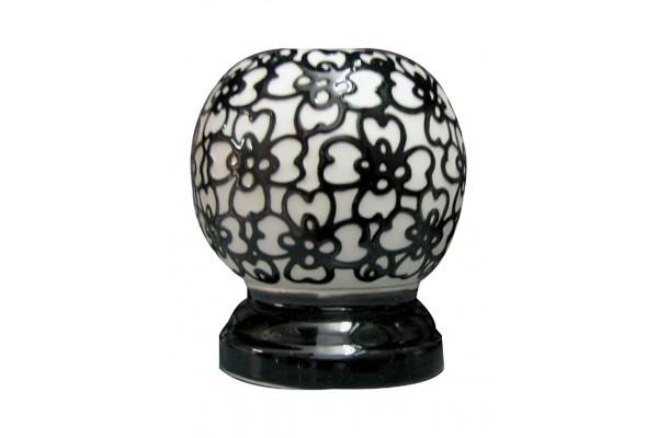 Đèn xông tinh dầu ngàn hoa đen trắng