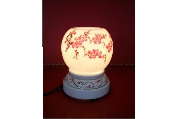 Đèn xông tinh dầu vẽ màu tam thái hoa đào