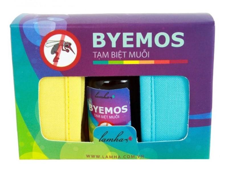 Bộ 2 vòng tay và tinh dầu chống muỗi (vàng - xanh) Byemos