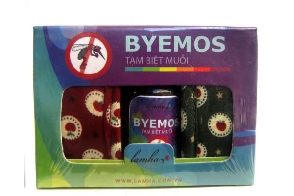Bộ 2 vòng tay in hoa và tinh dầu chống muỗi Byemos